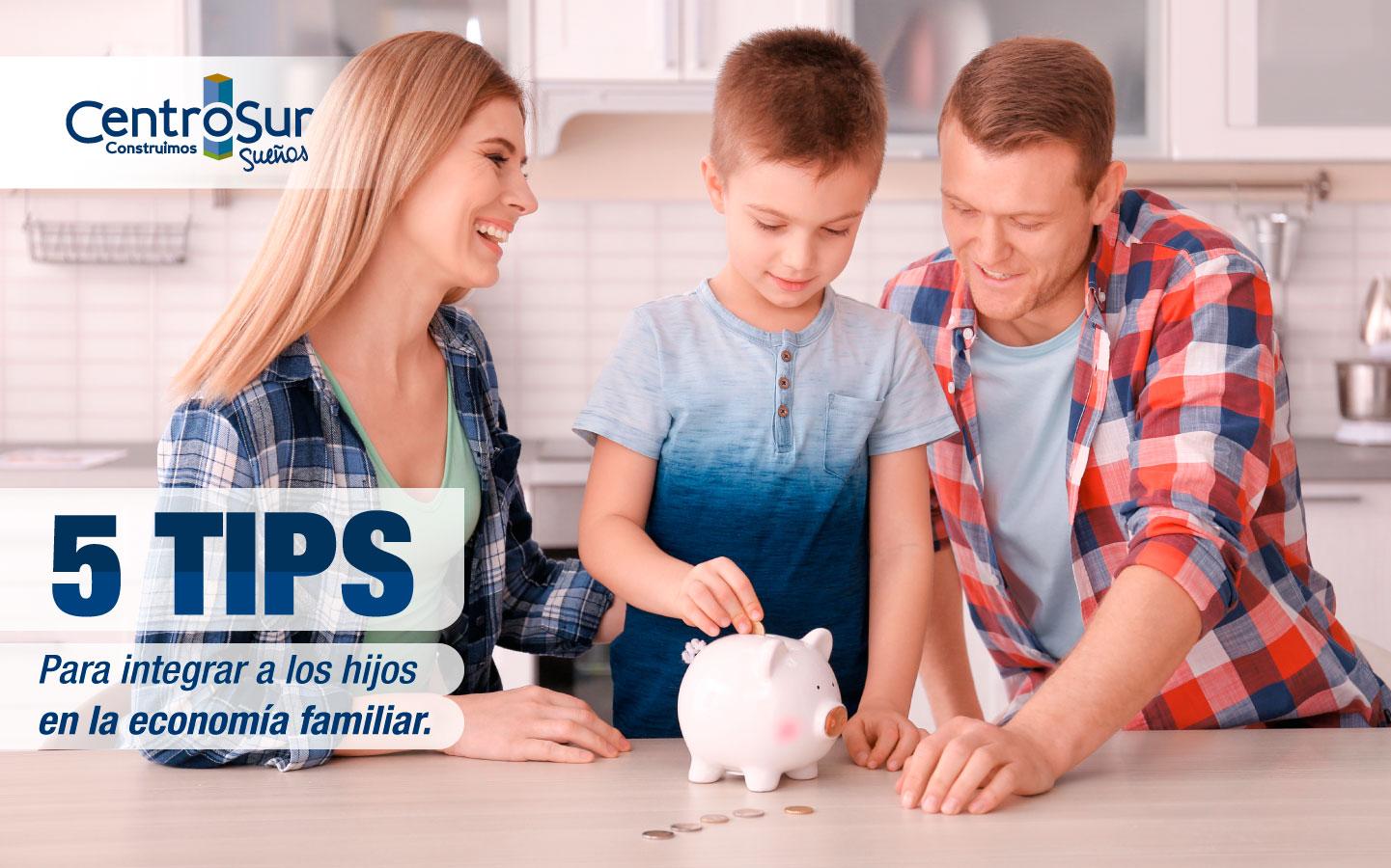 5 Tips para integrar a los hijos en la economía familiar