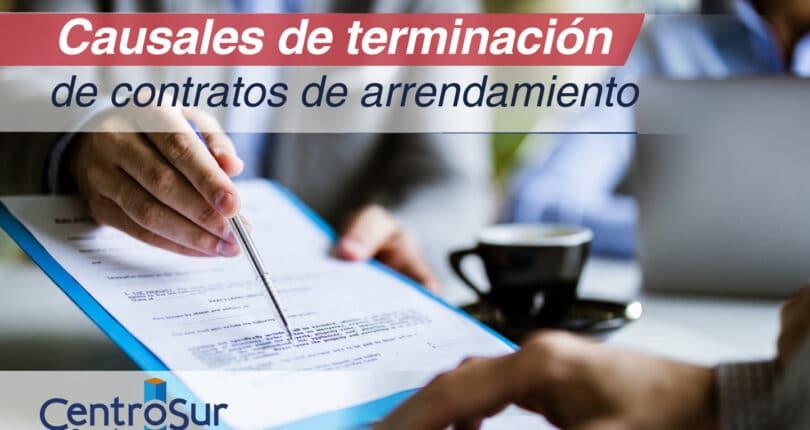 Causales de terminación de contratos de arrendamiento de apartamentos nuevos y usados