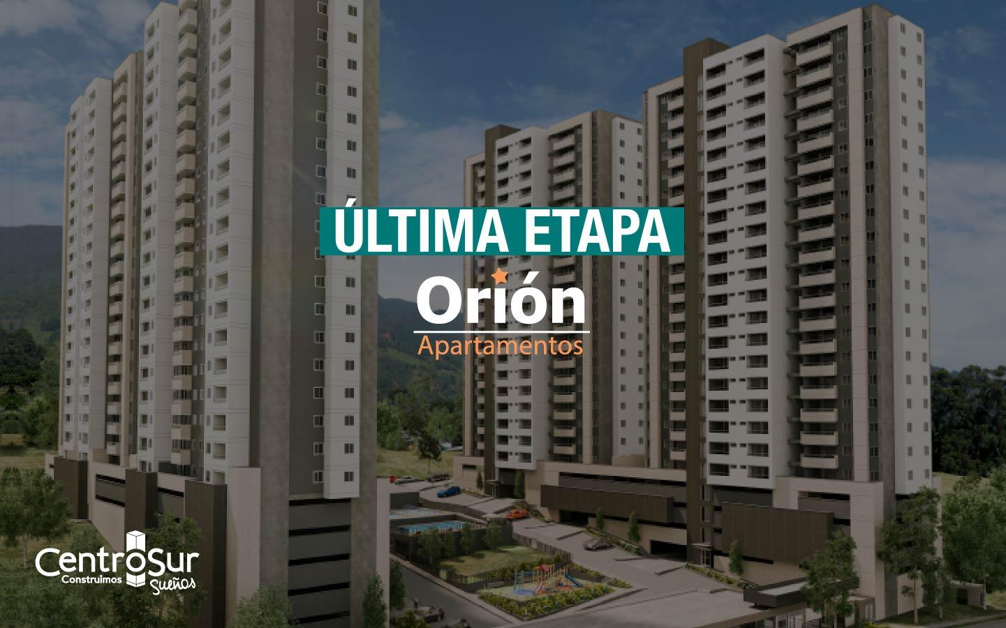 Orión torre 4, nuevos apartamentos No VIS en La Estrella