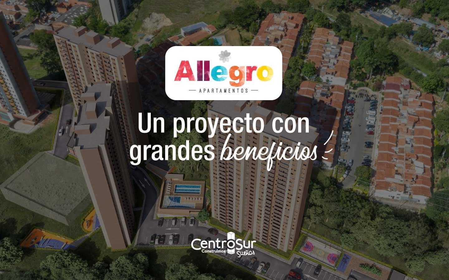 Allegro: nuevo proyecto inmobiliario VIS en Copacabana